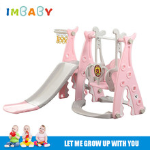 Baby Swing Chair Slide 3 in 1 Combination Shoot Basketball Indoor&Outside Children Playground Kids Multifunction Slide Swing Toy(China)