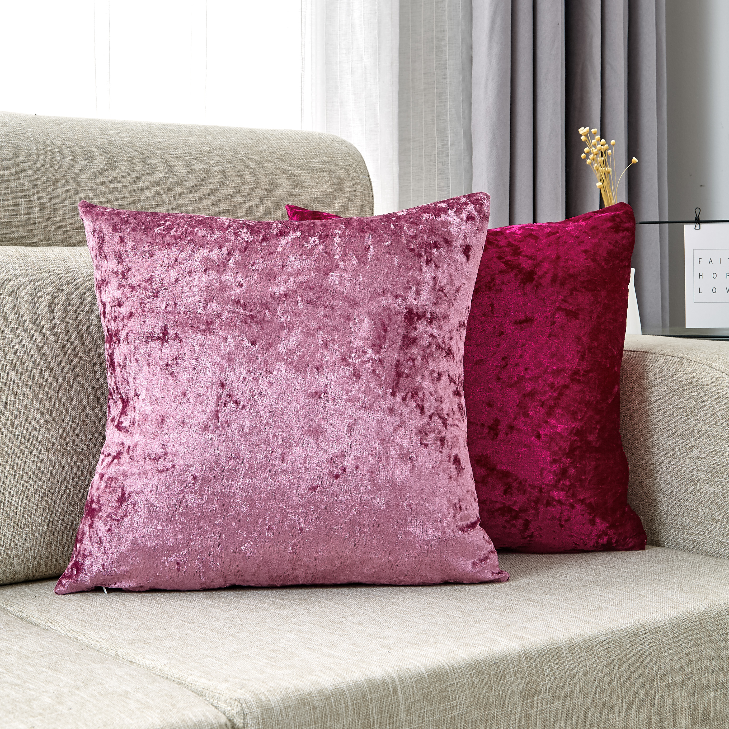 Decorative Pillows Crushed Velvet Cushion Cover Pink Pillow Cover Decoration Home Shiny Kussenhoes For Living Room Home Decor