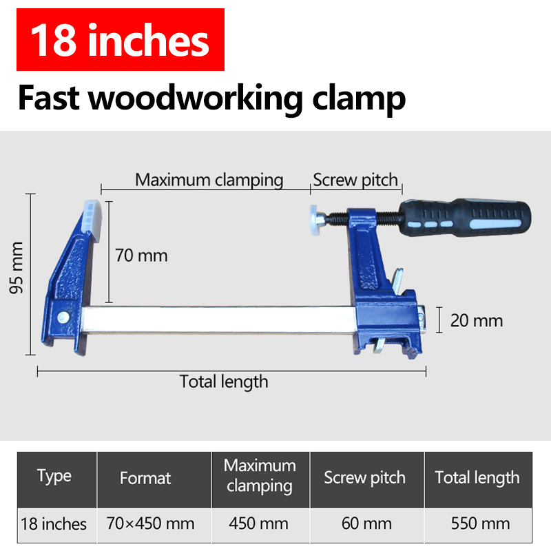 AI-ROAD Heavy Duty F Bar Clamp Ratchet Quick Release helpful tools