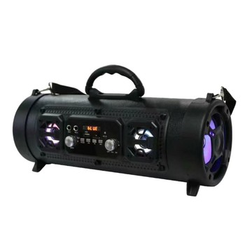 Portable For Bluetooth Speakers, Outdoor Rechargeable Wireless Built-in FM Radio, For AUX/USB/TF Card Subwoofer Speaker