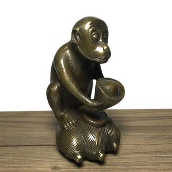 LAOJUNLU Zodiac Monkey Decoration Copper Monkey Lucky Monkey Ingot Corn Lucky Monkey фото