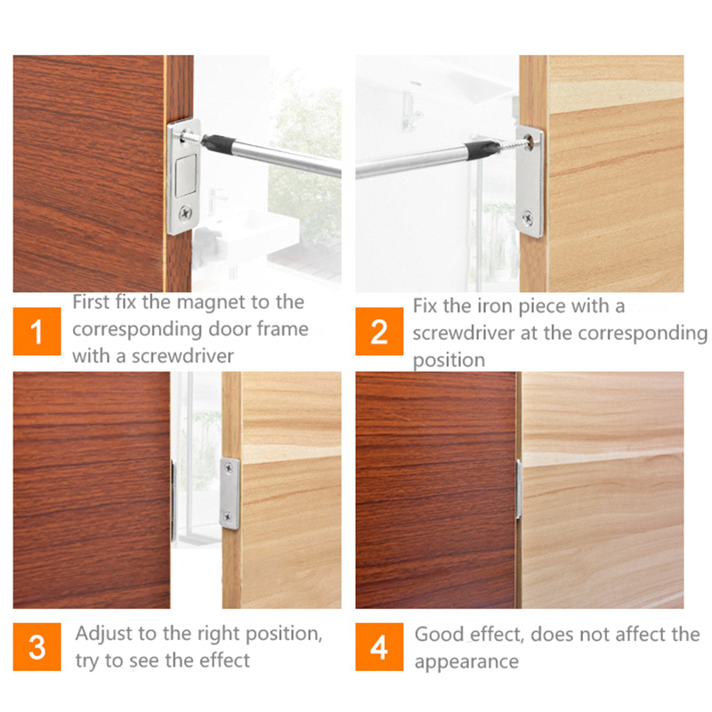 Cabinet Door Catch Latch with Strong Magnetic 8pcs