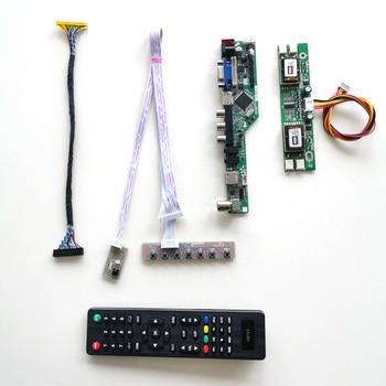 Para M190EN04 V4 V5 V7 LVDS 4CCFL 30Pin T V56 coche tarjeta Junta panel LCD monitor Teclado + Control Remoto + inversor HDMI VGA AV USB kit de bricolaje