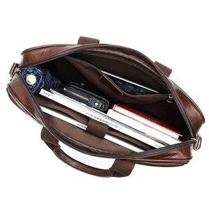 Image 4 - WESTAL Business Men Briefcase Laptop Bag Leather Mens Messenger Bag Genuine Leather Work/Office Bags for Men Briefcase Male