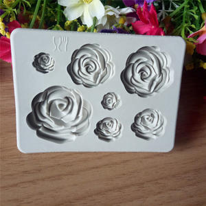 Mould Soap Baking-Mold Decoration Chocolate Rose-Flower Fondantcake Silicone And Small
