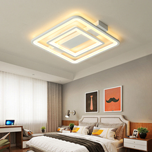 New Square/Round Modern Led Chandelier For Restaurant bed room led light ceiling Metal+acrylic modern chandelier lampara techo