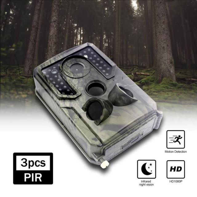 Trail Camera 12MP 1080P HD Game Hunting Camera Waterproof Wildlife Scouting Hunting Cam With 120° Wide Angle Lens