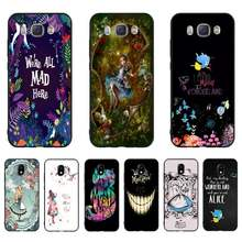 HTXian Alice in Wonderland Newly Arrived Black Cell Phone Case For Samsung J7 J8 J6 J4Plus J5 J7Prime J2 J5Prime M10 M20 M30(China)