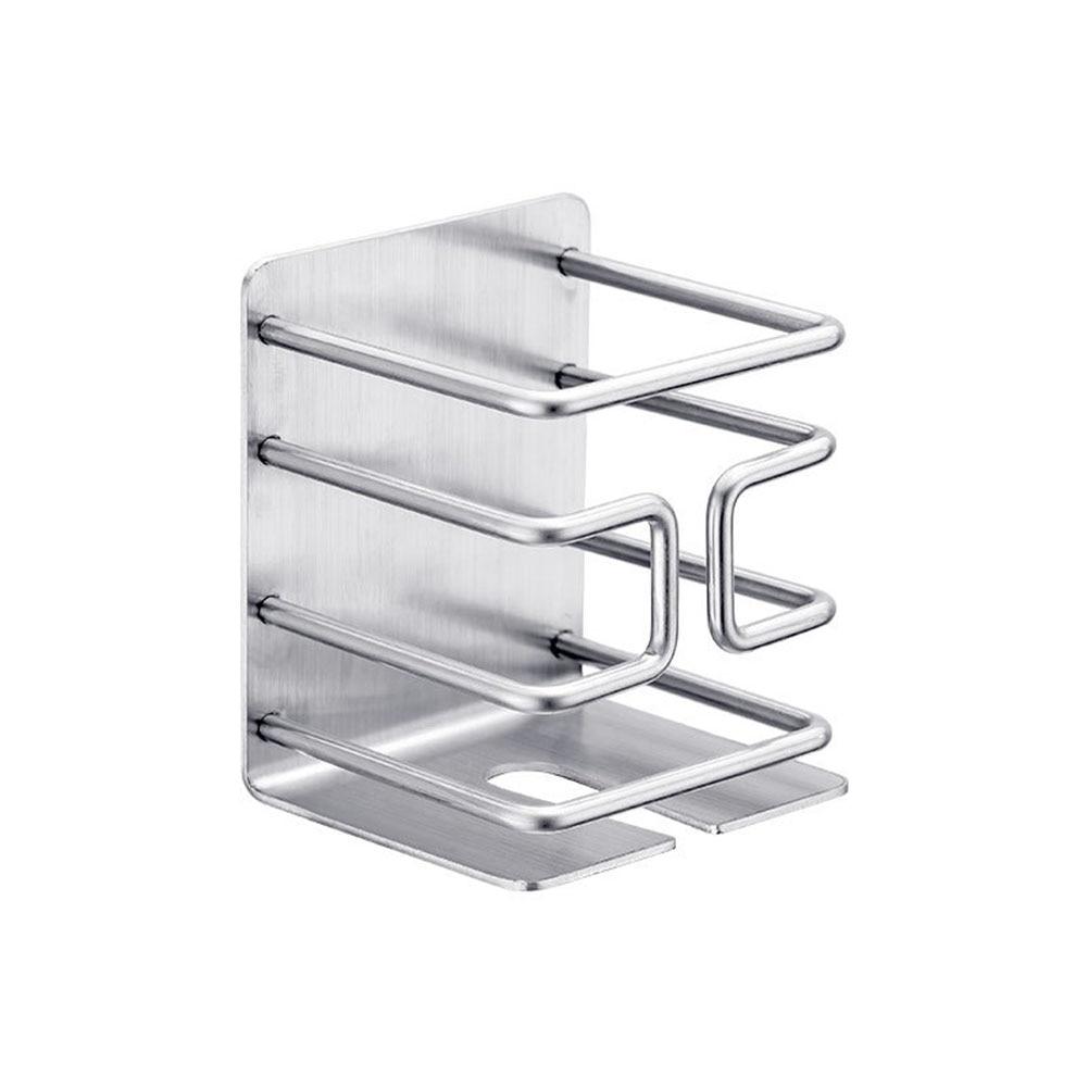Подставка-держатель для бритвы из нержавеющей стали, самоклеящаяся, настенная, практичная, без пробивки, домашняя электрическая стойка для ...
