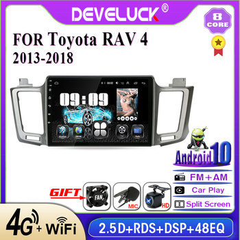 Android 10.0 2din Car Radio Multimedia video Player Navigation GPS IPS For Toyota RAV4 4 XA40 5 XA50 2012 - 2018 8 core No 2 din image