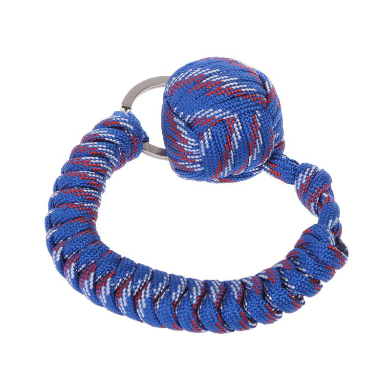 Useful Paracord Keychain Keyring Rope Chain Safety Ball Survival Outdoor RE