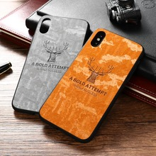 Deer Cloth Fabric Silicone Case For OnePlus 7 Pro Luxury Christmas Gift Back Cover One Plus 6T Soft TPU Canvas Coque