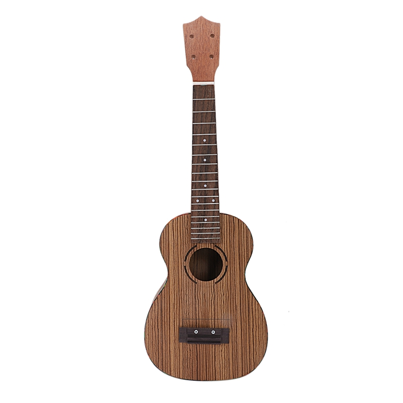 Concert Ukulele Diy Kit 23 Inch Zebrawood4 Strings Hawaiian Guitar For Handwork Painting Perfect Parents-Child Campaign