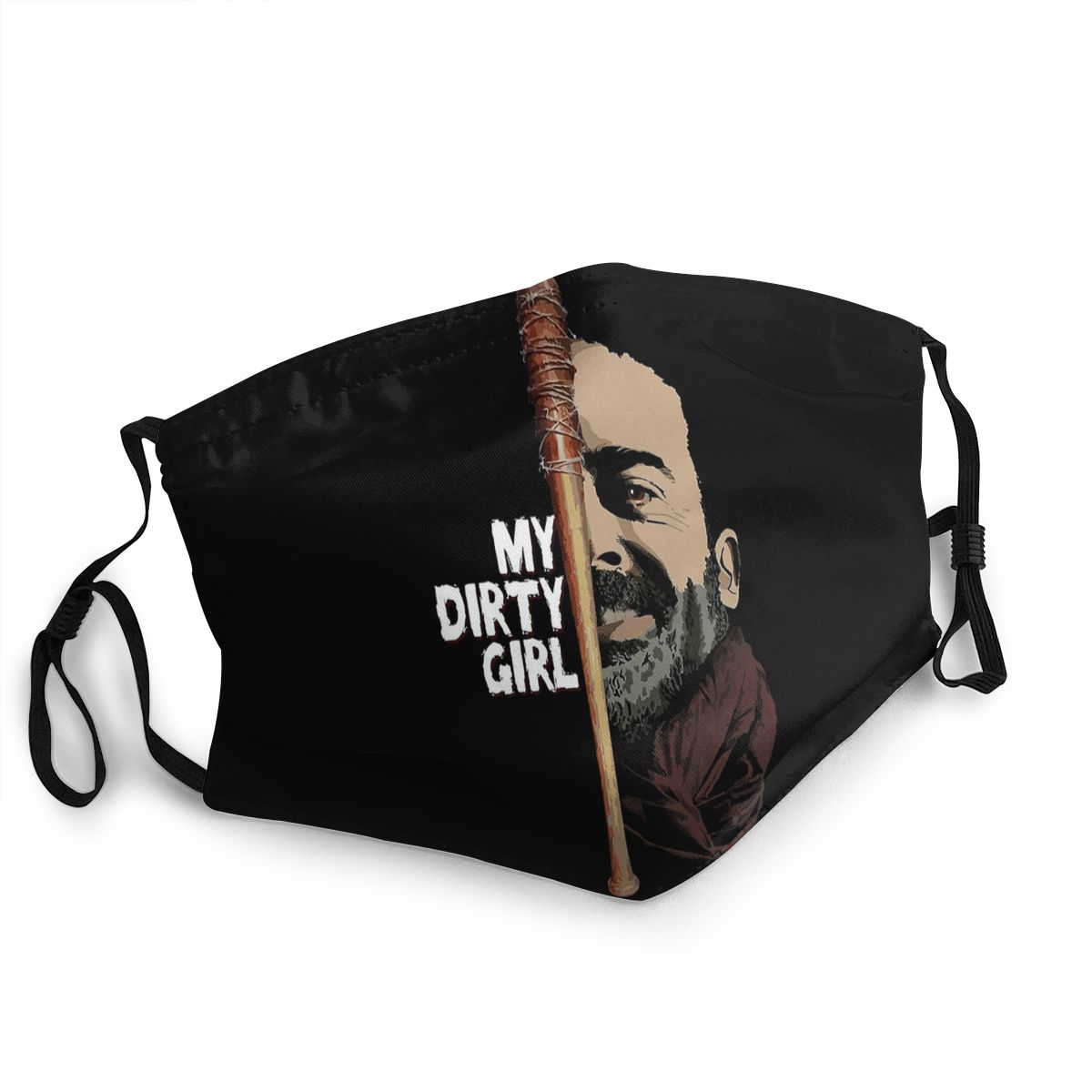 The Walking Dead Negan Lucille Unisex Non-Disposable Face Mask Anti Haze Dust Mask Protection Cover Respirator Mouth Muffle