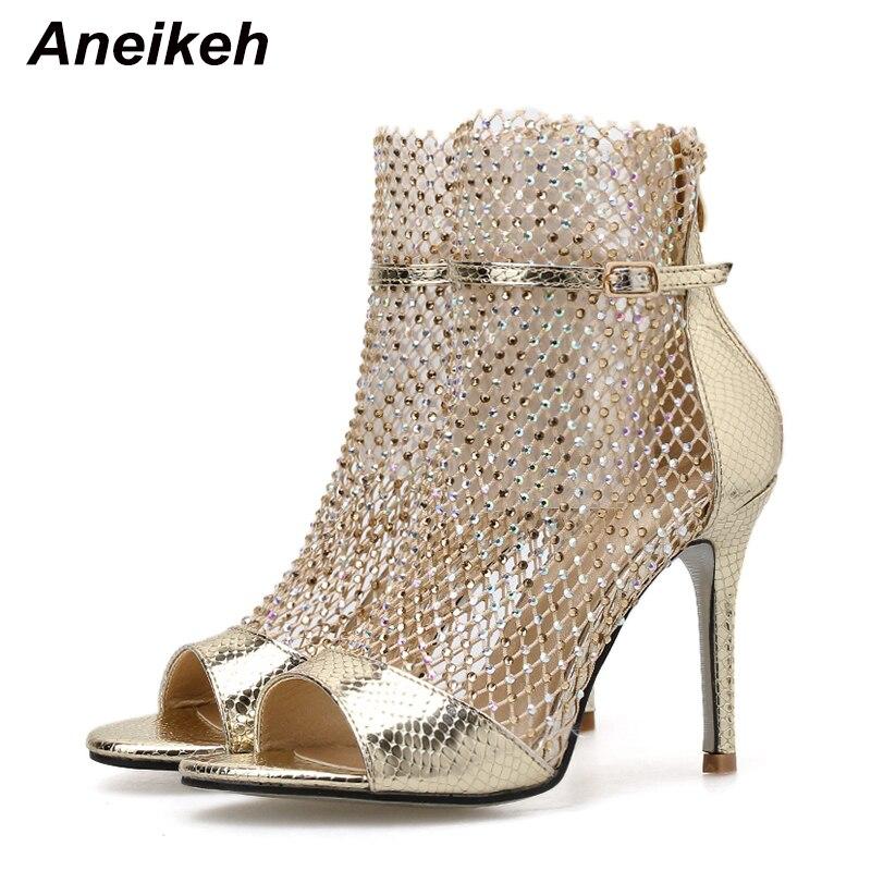 Aneikeh Fashion Spring Gold Glitter
