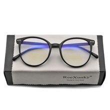 Nova unisex anti raios azuis óculos de computador feminino vintage quadro redondo jogos eyewear dos homens anti luz de bloqueio óculos