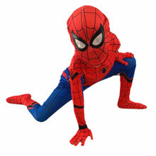 3-13Y Child Extraordinary Spider-boy Pantyhose Kids Heroes Returned Siamese Anime Cosplay Costumes and Masks