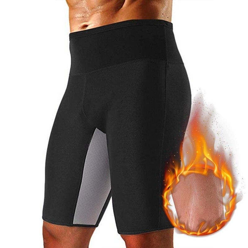 Slimming Shapewear Sauna Yoga Gym Weight Loss Body Shaper Cinta Modeladora Masculina Sweat Thermo Burning Man Shorts Plus Size