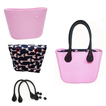 Classic Women Bag obag Style Handles Ladies Silicone Rubber Waterproof Beach Handbag Woman EVA mini Shoulder O