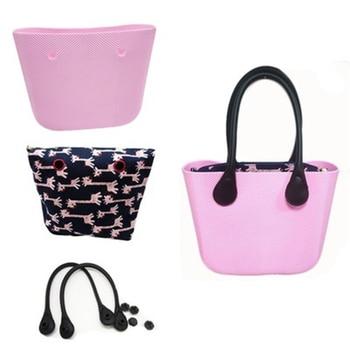 цена на Classic Women Bag obag Style Handles Ladies Silicone Rubber Waterproof Beach Handbag Woman EVA mini Waterproof Shoulder O Bag