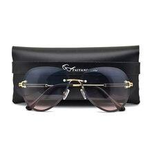 Lunettes de soleil Vintage sans bords pour femmes, accessoire de styliste, monture pilote classique, ombres pour dames, 2020