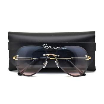 Fashion Designer Sunglasses Women 2020 Rimless Vintage Glasses Classic Pilot Frame Sun Shades For Womens zonnebril dames
