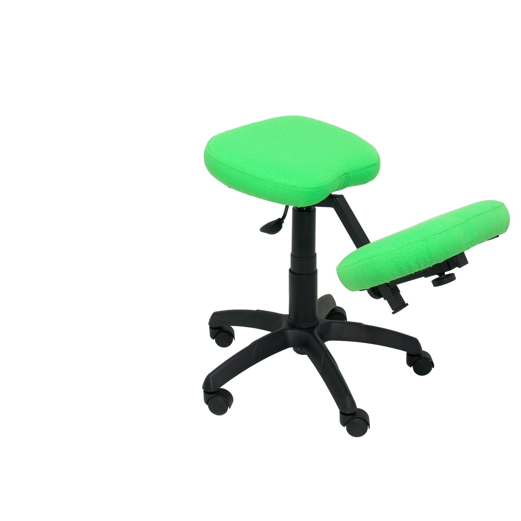 Office's Stool Ergonomic swivel and dimmable in high altitude up seat upholstered in BALI tissue color pistachio (RODILLE|Bar Chairs| |  - title=
