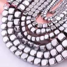 2,3,4,6mm cubo liso contas de prata hematite natural pedra espaçador grânulos para mulheres diy colar pulseiras fazendo jóias 15