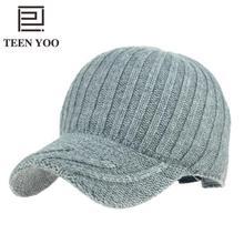 Winter Hat Baseball-Hat Knitted Women Casual Hip-Hop Korean-Style Female New-Arrivals