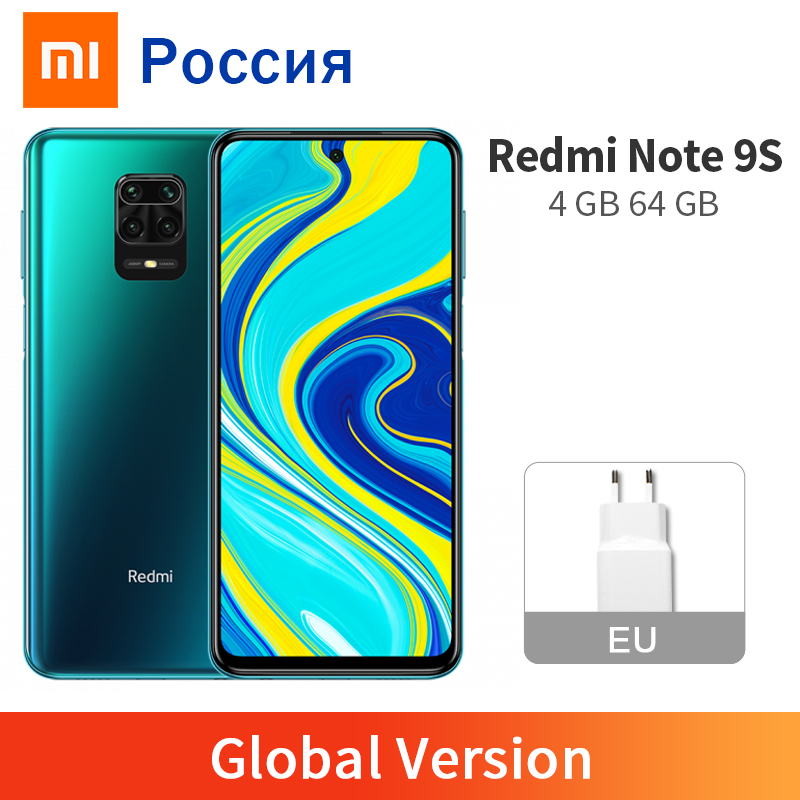 In Stock Global Version Xiaomi Redmi Note 9S 4GB 64GB Smartphone Snapdragon 720G Octa Core 5020mAh 48MP Four Camera Note 9 S(China)