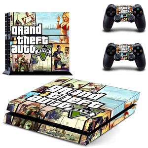 Image 2 - Grand Theft Auto V GTA 5 PS4 Skin Sticker Decals Cover For PlayStation 4 PS4 Console & Controller Skins Stickers Vinyl