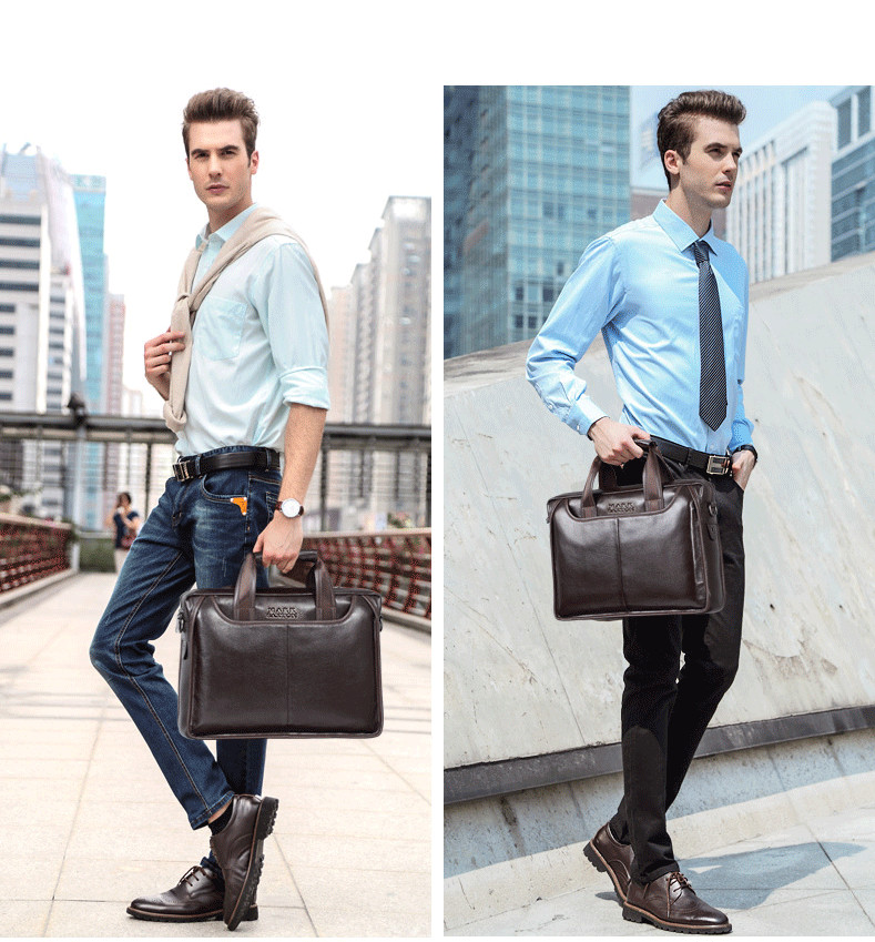 Hea26eacf00c74485a83f71b6c17b8847H 2019 New Fashion cowhide male commercial briefcase /Real Leather vintage men's messenger bag/casual Natural Cowskin Business bag