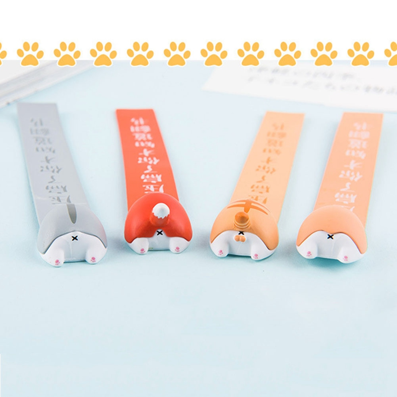 Lovely Cartoon Dog Cat Hamster Fox Ass Bookmarks Novelty Book Reading Item Creative Gift For Kids Children Stationery
