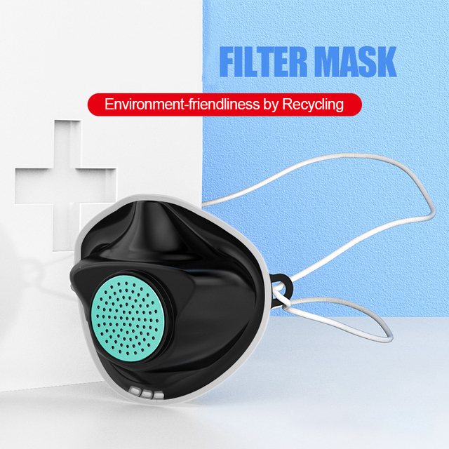 10pc Replaceable Mouth Face Mask Anti Influenza bacteria Flu Dust proof PM2.5 Safety Non-disposable Care Mask +300 filter 3