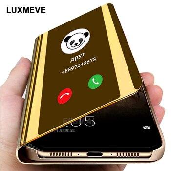 Funda de teléfono para Xiaomi de espejo inteligente Redmi Note 9 s 8 7 5 6 K20 Pro Max 8T 9 8A 7 7A 4X 5 Plus Mi Note 10 Lite Pro 9 SE
