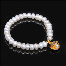 2019 Boho Shell & Freshwater Pearl Bracelet Bangle Seashell Cowry Conch Charm for Women Jewelry Yoga Mala Beach