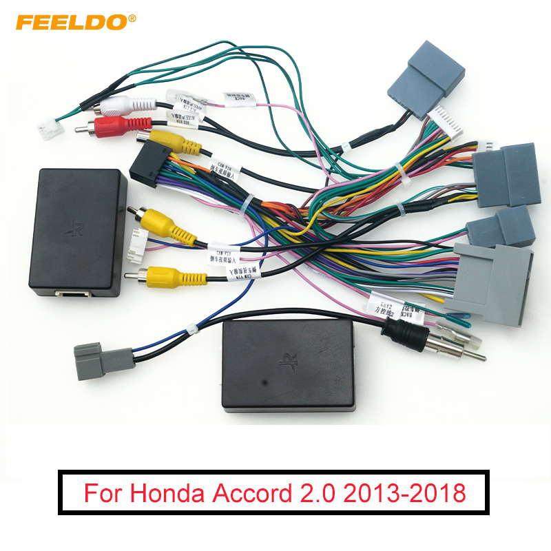 FEELDO Car Stereo Audio 16PIN Android Power Cable Adapter With Canbus Box  For Honda Accord 2014 2018 Power Cable Wiring Harness|Cables, Adapters &  Sockets| - AliExpressAliExpress