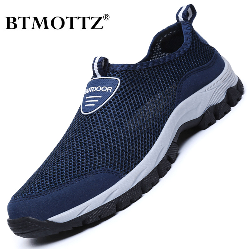 Summer Mesh Men Shoes Casual Lightweight Sneakers Men Outdoor Walking Shoes Trainers Breathable Slip-on Mens Loafers Zapatillas