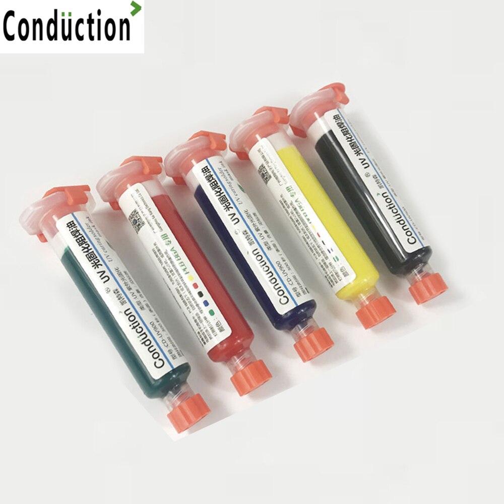 10cc UV PCB BGA Solder Resist UV Curable Soldering Great Mast Repair Paint Solder Mask Solder Resist 5 Colors