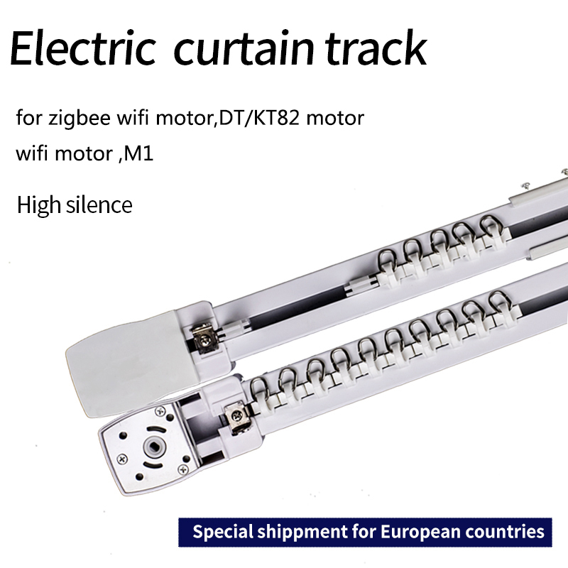 Electric Curtain Track For Zigbee Wifi Motor Dooya KT82/DT82 Motor Customizable Super Quite  For Smart Home For EU Main Country