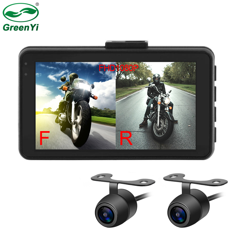 MT22 Motorcycle DVR Dash Cam Full HD 1080P+720P Front Rear View Cam Motorcycle Video