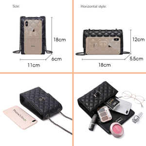Image 4 - NEVEROUT 本物の革の女性の携帯電話財布クロスボディ女性の小さなキルティングバッグメインメッセンジャーバッグ