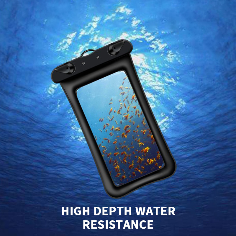 Waterproof Case Floating Airbag For Phone Underwater Snow Rainforest Transparent Dry Bag Swimming Pouch Big Phone Bag Sealed