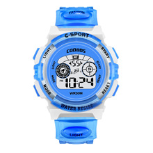 Get more info on the School Boys Girls Watches Electronic Fashion Children's WristWatch Colorful Light Source Sister Brother Birthday Gift Kids Clock