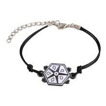 Hanreshe tartaruga joaninha pulseira corda charme joaninha pulseiras menino menina pulseira gato nior clássico anime crianças jóias