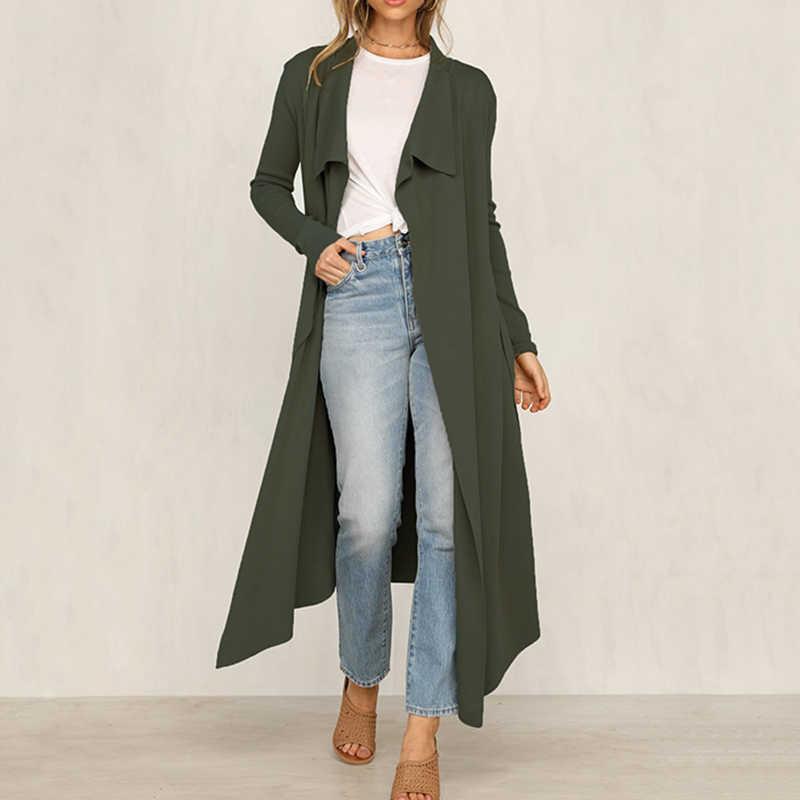 Женское корейское зимнее длинное пальто, верхняя одежда, пальто свободного кроя, большие размеры, кардиганы с длинным рукавом, Manteau Femme Hiver, элегантное