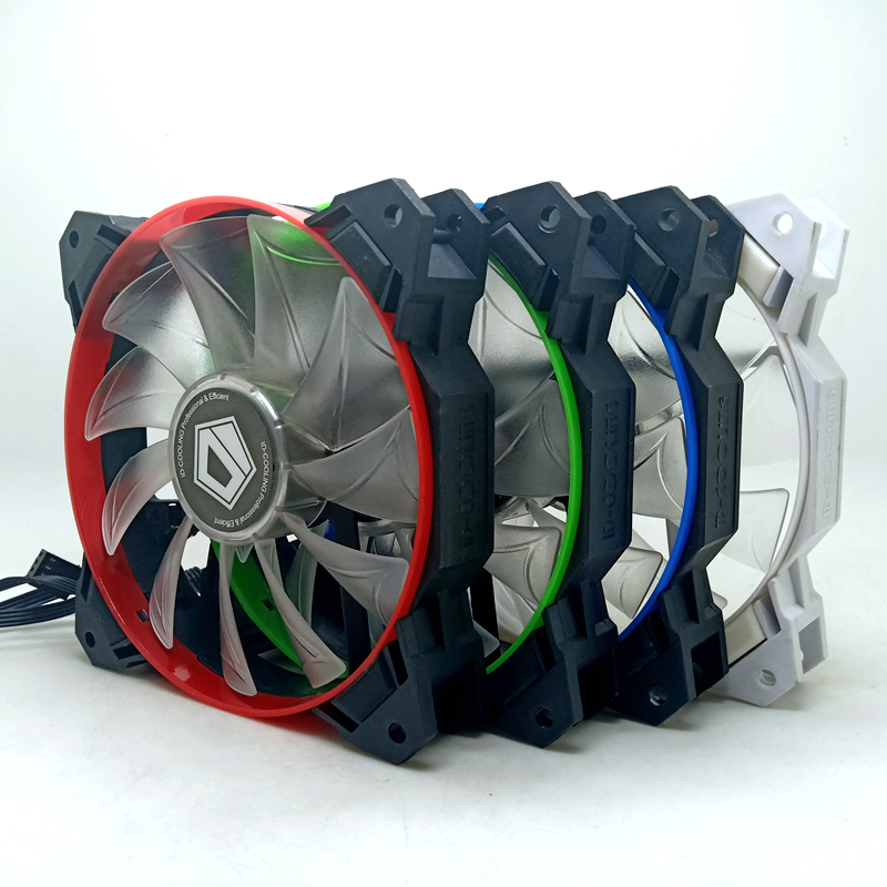 New 120mm Led Cooling Fan 12cm Id-12025m12s 12cm 4Pin PWM Temperature Controlled RGB Fan Led Chassis Cooling Fan