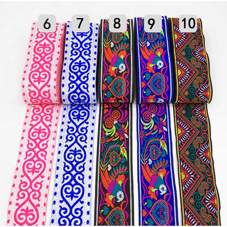 Yuelso Encajes Puntillas 1 Medidor de Tela de Encaje Ancho 7 cm Collar de la Cinta Pasamaner/ía de Vestir de Costura Bordado Flor Rosa de Encaje