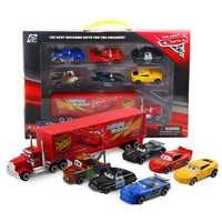 7 pz/set Disney Pixar Cars 2 3 Saetta Mcqueen Jackson Tempesta Della Lega Modello di Auto Modellini Auto Veicoli Giocattolo Regalo Di Natale per ragazzo