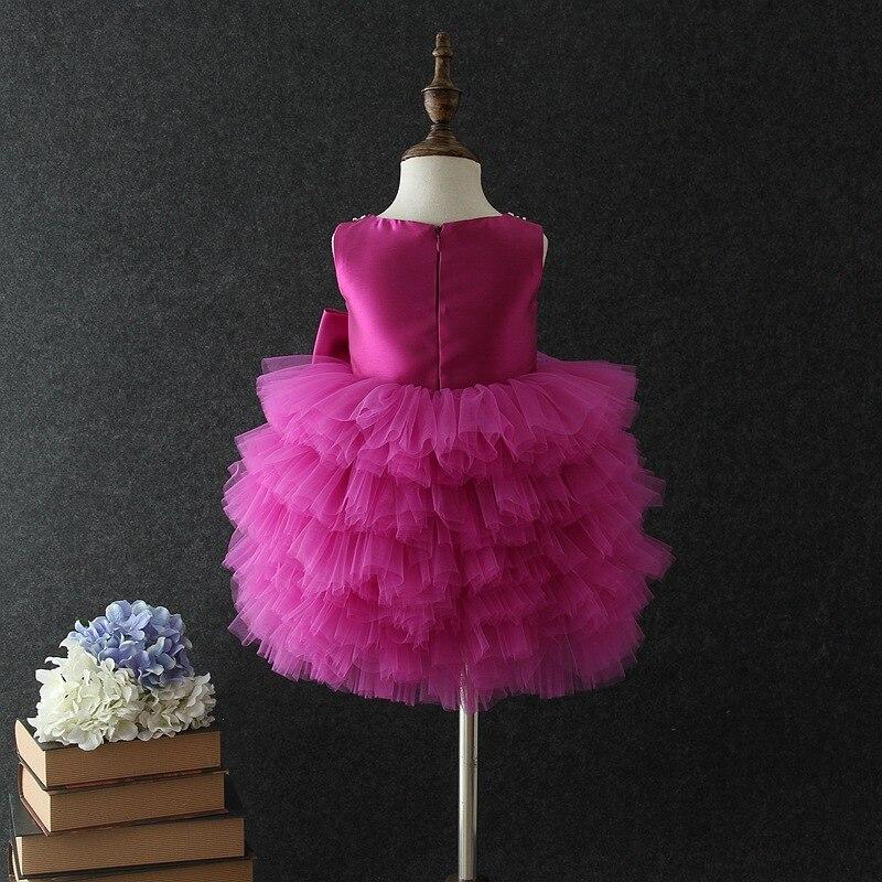 Birthday Baby Girl Dresses Tutu Purple Layered Wedding Princess Vestidos 2020 Baby Clothes Of 1 2 3 4 5 Years Old 184028